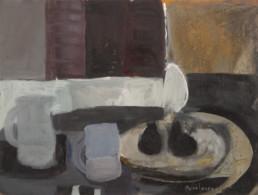 Bodegón. Pigmentos con látex sobre cartulina, obra de Fernando Peiró Coronado pintada en 1961. Medidas, 50x65.