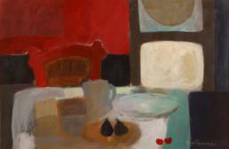 'Bodegón' obra de Fernando Peiró Coronado realizada a base de pigmentos con látex sobre cartulina. Medidas 59x89.