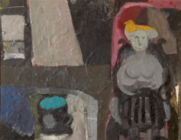 Pintura de Fernando Peiró Coronado realizada en 1968 sobre tabla realizada con pigmentos al látex. Medidas, 28x35.