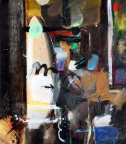 'Mujer frenta al espejo' es una obra de Peiró Coronado realizada en 1973. Es un óleo sobre cartulina pegada a tabla. Medidas, 41x37.