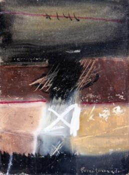 Pintura de Fernando Peiró Coronado realizada con ceras sobre cartulina. Medidas 20x15. Se pueden observar algunos gestos esgrafíados por la uña del artista.