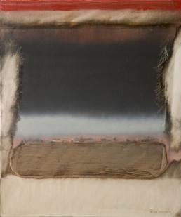 Pintura 'Cómo dolía el separarnos' de Fernando Peiró Coronado. Obra realizada con óleo sobre lienzo preparado con arena y látex, medidas 61x50.