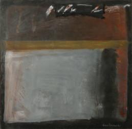 Pintura 'Transparencias dolorosas' de Fernando Peiró Coronado realizada con óleo y ceras sobre tabla preparada matéricamente.