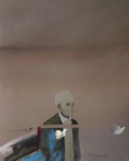 Soltó la última paloma, pintura de Peiró Coronado.