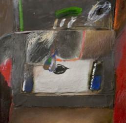 'Bodegón de la pera con sombra' obra de Fernando Peiró Coronado. Técnica mixta: óleo y ceras sobre tabla preparada con con arena y látex.
