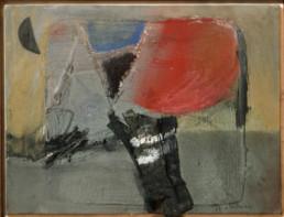 'Cansada luna menguante' obra de Fernando Peiró Coronado. Medidas, 25x33. Técnica mixta: óleo y ceras sobre tabla preparada matéricamente.