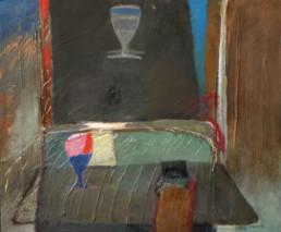 'Brindis juguetón' obra de Fernando Peiró Coronado. Medidas, 54x65. Óleo y ceras sobre tabla preparada con polvo de mármol.