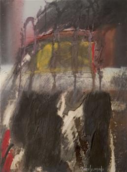 'Ahogo, me revelo' obra de Fernando Peiró Coronado. Medidas, 46x34. Pintura realizada con óleo, spray y ceras sobre tabla preparada con polvo de mármol.