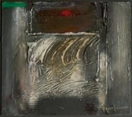 'La última despedida', obra de Fernando Peiró Coronado. Medidas, 30x30. Técnica mixta: óleo y ceras sobre tabla preparada con arena y látex.