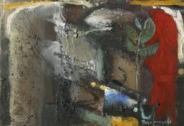 'Despertar del bodegón', obra de Fernando Peiró Coronado.Óleo y ceras sobre tabla preparada con arena y látex, Medidas 26x38.