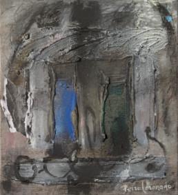 'El cant dels ocells, con Pau Casals', obra de Fernando Peiró Coronado. 23x21. Óleo sobre tabla preparada con arena y látex, Homenaje a Pau Casals